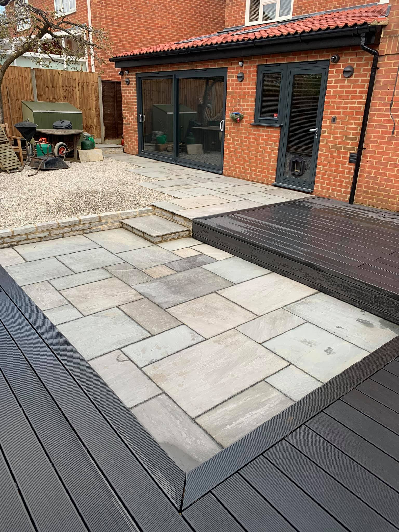 patio with decking
